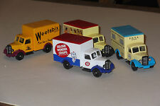 Lledo days gone  BEDFORD   VANS IN COMMERCIAL LIVERIES X 4