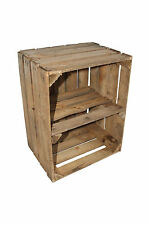 Apple Crate Large Vintage Wooden Used Old Shelf