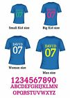 Personalized Jersey Name Number 15 Colour Heat Transfer Iron on Kid Man Woman