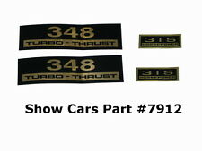 VALVE COVER DECALS KIT 61,60,59,58,CHEVY CHEVROLET IMPALA BELAIR 348 315HP