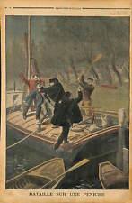 COURBEVOIE VICTOR BROLAND LOUIS FARGAS ATTAQUE PENICHE DE DRAGAS POLICE 1902