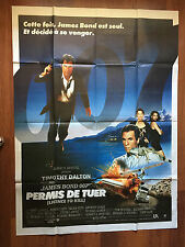 AFFICHE CINEMA JAMES BOND 007 PERMIS DE TUER 156X115