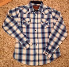 Walls Authentic Ranch Wear Girls Size M Pearl Snap Long Sleeve Shirt