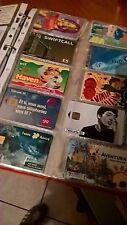 collezione schede telefoniche internazionali con raccoglitore collezione schede