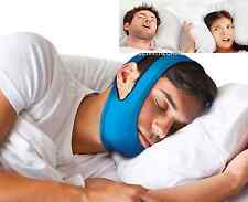 Snore Stop Belt Snoring Cpap Chin Strap Anti Sleep Apnea Jaw Solution TMJ BLUE