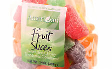 14oz Gourmet Style Bag of Assorted Chewy Fruit Slices Jelly Candy [7/8 lb.]