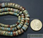 Natural Colorful Serpentine Gemstone Heishi Beads 3mm x 6mm 4mm x 8mm 10mm 16''
