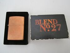 BOXED UN FIRED ZIPPO Solid Copper Lighter In Original Marlboro BLEND NO 27 NR !!