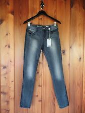 New Rocks & Indigo Dark Stone Jeans with Faux Leather Panel 27