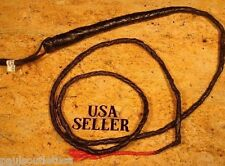 Bull Whip Leather Costume Prop 6 ft Horse Black Cowboy Rodeo Aid Indiana Jones