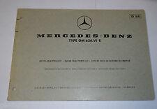 Teilekatalog Mercedes Benz Diesel Motor OM 636 VI E, 4 Zylinder, St. 05/1969
