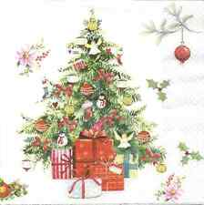 4 Single Paper Napkins for Decoupage Beautiful X-mas Tree Christmas Gifts