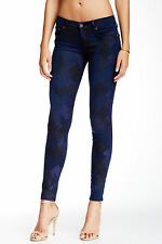 NWT TRUE RELIGION JEANS $238 CASEY SKINNY PANTS IN INDIGO HOUNDSTOOTH SZ 26