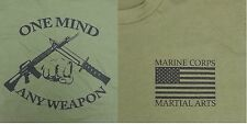 MARINE CORPS MARTIAL ARTS OD Green T-Shirt (Sz Md)
