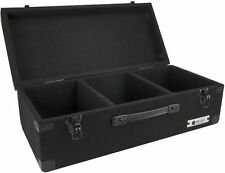 Record Case 3-Row Carpeted Storage DJ Case Holds (200) 45 Rpm Vinyl Records