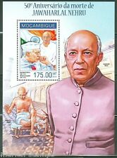 MOZAMBIQUE 2014 50th MEMORIAL ANN  OF JAWAHARLAL NEHRU  WITH GANDHI S/S  MINT NH
