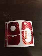 Carbon Chrom Rot Dekor Folie Schlüssel Skoda Bora Roomster RS Superb Fabia uvm