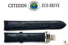Citizen AP1000-03L Eco-Drive Original 20mm Blue Leather Watch Band Strap