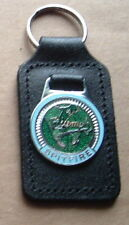 TRIUMPH SPITFIRE KEY RING ENAMEL BADGED LEATHER KEYRING, KEY CHAIN, KEY FOB