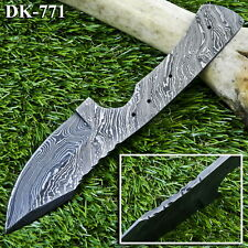 8.5'' HAND FORGED DAMASCUS STEEL BLANK BLADE FOR KNIFE MAKING -DK-771