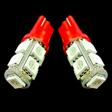2X SUPER RED 9-LED LIGHTS 5050 SMD XENON HID T10/T15 #R1