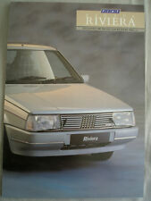 Fiat Regata Riviera brochure Jul 1987