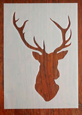 A5 Stags Head Stencil Reusable Mylar Sheet for Arts & Crafts, DIY