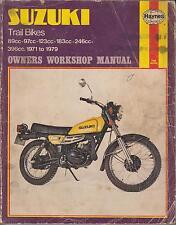 SUZUKI TC / TS 90 100 125 185 TS250 TS400 ( 1971 - 1979 ) OWNERS WORKSHOP MANUAL
