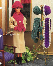 """""""HATS & ACCESSORIES""""~Crochet PATTERN ONLY for BARBIE FASHION DOLL"""