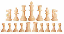 NEW Half Set (17 Pieces) Staunton Chess Pieces - Natural