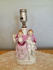 Vintage Ceramic / Porcelain Table Lamp Colonial Man & Woman Dancing Japan