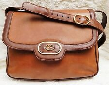 Authentic Vintage Rare GUCCI Calf Skin Leather - Leather Lined Handbag