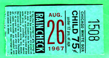 "1967 RED SOX ""IMPOSSIBLE DREAM SEASON"" TICKET STUB-8/26/67 @ WHITE SOX"