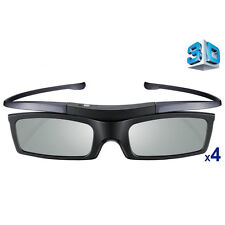 Lot 4X 4K HD UHD SUHD BT 3D Active TV Glasses for Samsung Sony TV Projector New