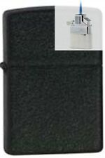 Zippo 236 black crackle cigar Lighter & Z-PLUS INSERT BUNDLE