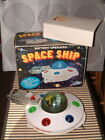 VINTAGE, BATTERY OPERATED SPACE SHIP UFO/FLYING SAUCER. WORKING W/BOX! RARE