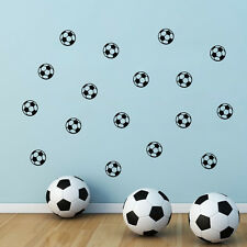 10 x Football Soccer Ball Boys Wall Sticker Home Decor Kids Room Decal DIY Mural