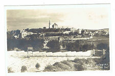 Jerusalem Israel Mt. Zion posted 1954 RPPC real photo post card