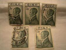 Ireland Stamp 1953 Scott 149 A27  Green Emmet 3 P Set of 5