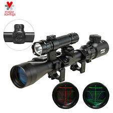 Rangefinder Reticle Riflescope with Laser Sight & Torch 3-9X40EG for Hunting