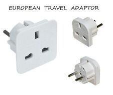 New UK To EU Euro Europe European Travel Adaptor Plug 2 Pin Adapter*CE Approved*