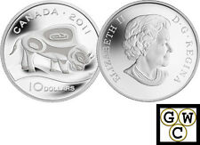 2011 'Wood Bison' Proof $10 Silver .9999 Fine (12908) (NT)