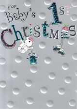 Baby's 1st Christmas Christmas Card Embossed & Foiled Xmas Greeting Cards