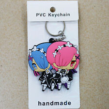 Re:Life in a different world from zero Rem ram silicone keychain anime key chain