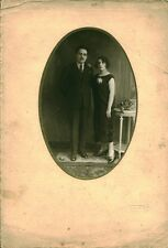 Photo ancienne   photo portrait d'un couple parisien en studio ""