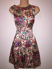 BNWT Coleen Paisley Print Satin Special Occasion Dress Size 20 RRP £74