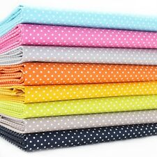 FQ Bundle - Mono Tiny Dot - All Colours x 8 - Cotton Fabric Patchwork Quilting F