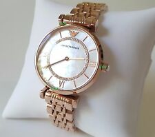 BRAND *NEW* Emporio Armani AR1909 Women's Classic Crystal Rose Gold Watch Luxury