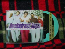 "BACKSTREET BOYS ""I WANT IT THAT WAY"" CD SINGLE 3 TRACKS"