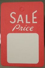 1000 All Purpose White/Red Unstrung Sale Price Clothing Label Tags